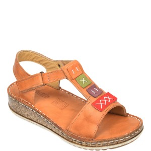 Sandale CONSUELO maro, 1341, din piele naturala