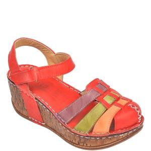 Sandale CONSUELO rosii, 1430, din piele naturala