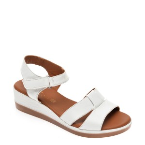 Sandale FLAVIA PASSINI albe, 9157, din piele naturala