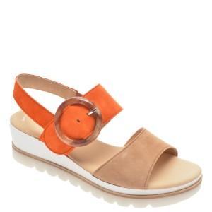 Sandale GABOR portocalii, 44645, din piele intoarsa