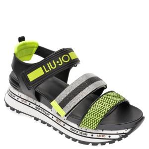 Sandale LIU JO negre, WONMA07, din piele ecologica