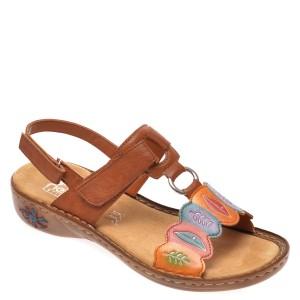 Sandale RIEKER maro, 60174, din piele ecologica