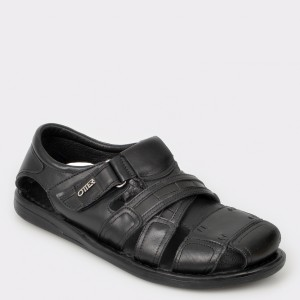 Sandale OTTER negre 17400 din piele naturala