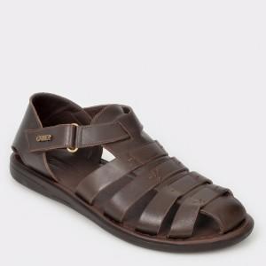 Sandale OTTER maro 17455 din piele naturala