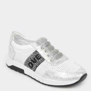 Pantofi sport FLAVIA PASSINI albi, Nb006, din piele naturala