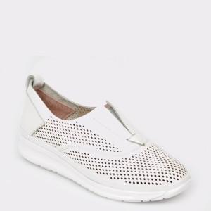 Pantofi FLAVIA PASSINI albi, Rs56, din piele naturala