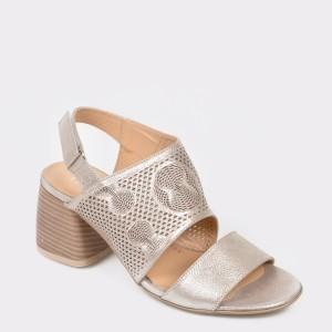 Sandale FLAVIA PASSINI argintii, Vv641, din piele naturala