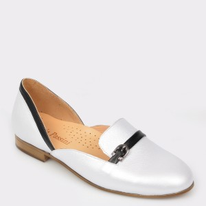 Pantofi FLAVIA PASSINI argintii, Mg5002, din piele naturala
