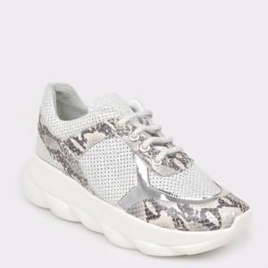 Pantofi sport FLAVIA PASSINI albi, Df225, din piele naturala