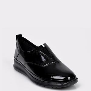 Pantofi FLAVIA PASSINI negri, RS5512, din piele naturala lacuita