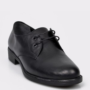Pantofi Flavia Passini Negri, Vr305, Din Piele Naturala