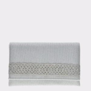 Poseta plic MENBUR argintie, 844940, din material textil