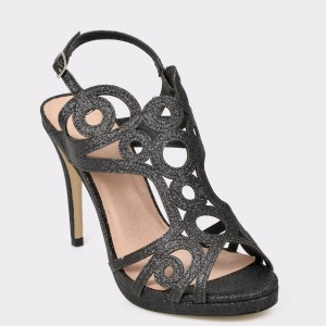Sandale EPICA negre, 20140, din piele ecologica