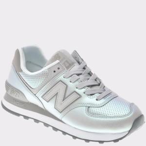 Pantofi sport NEW BALANCE argintii, Wl57, din piele ecologica