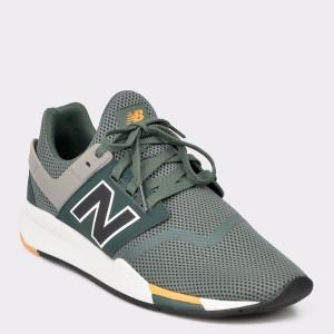 Pantofi sport NEW BALANCE verzi, Ms247, din piele ecologica