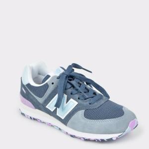 Pantofi sport pentru copii NEW BALANCE albastru, Pc574, din material textil