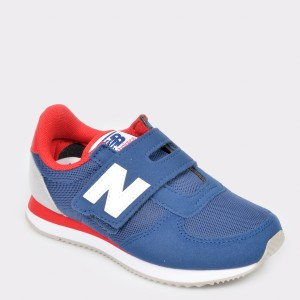 Pantofi sport NEW BALANCE albastri, Pv220, din piele ecologica