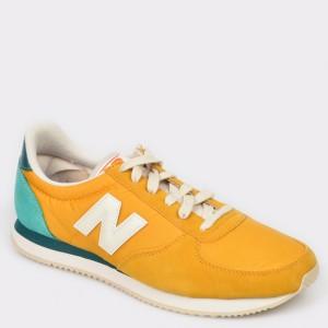 Pantofi sport NEW BALANCE galbeni, U220, din piele intoarsa