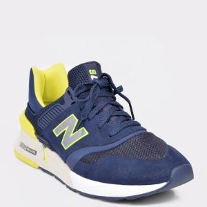 Pantofi sport NEW BALANCE bleumarin, MS997, din material textil si piele intoarsa