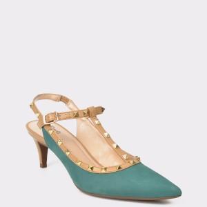 Pantofi FLAVIA PASSINI verzi, 2428226, din nabuc