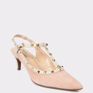 Pantofi FLAVIA PASSINI nude, 2428226, din nabuc
