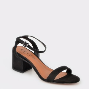 Sandale EPICA negre, 3240007, din nabuc