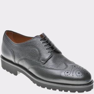 Pantofi HUGO BOSS negri, 8144, din piele naturala