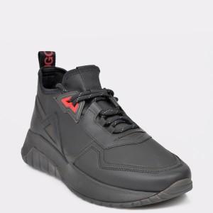 Pantofi sport HUGO BOSS negri, 8111, din piele ecologica