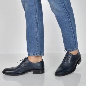 Pantofi OTTER bleumarin, 775, din piele naturala