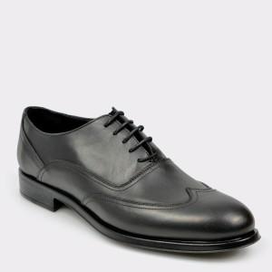 Pantofi OTTER negri, 8935, din piele naturala