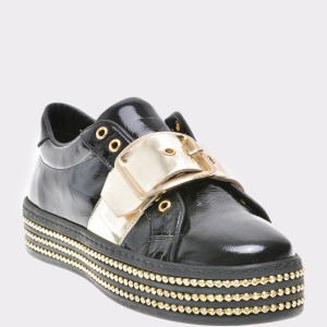 Pantofi FLAVIA PASSINI negri, 52331, din piele naturala lacuita