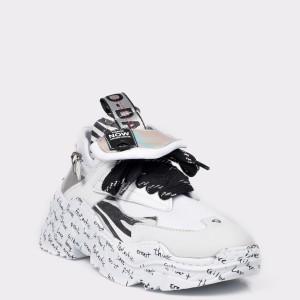 Pantofi sport FLAVIA PASSINI albi, 4402843, din piele naturala