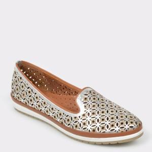 Pantofi IMAGE argintii, 110, din piele naturala