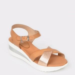 Sandale IMAGE maro, N7064Ll, din piele naturala