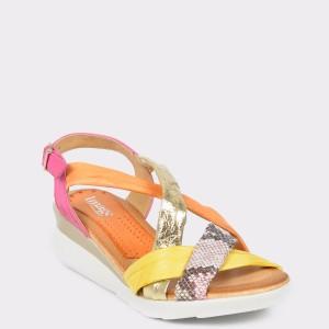 Sandale IMAGE multicolore, 50393, din piele naturala