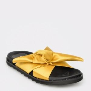 Papuci IMAGE galbeni, N2006S, din material textil