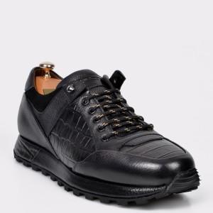 Pantofi LE COLONEL negri, 49401, din piele naturala