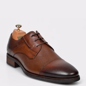 Pantofi LE COLONEL maro, 33844, din piele naturala