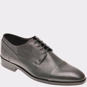 Pantofi OTTER negri, M06, din piele naturala