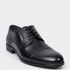 Pantofi OTTER negri, K01, din piele naturala