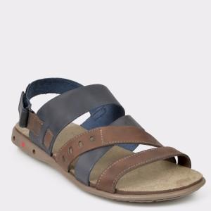 Sandale barbati OTTER bleumarin 18103 din piele naturala