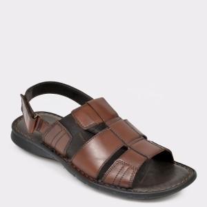 Sandale barbati OTTER maro 6758 din piele naturala
