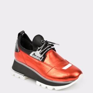 Pantofi sport FLAVIA PASSINI rosii, 2052, din piele naturala