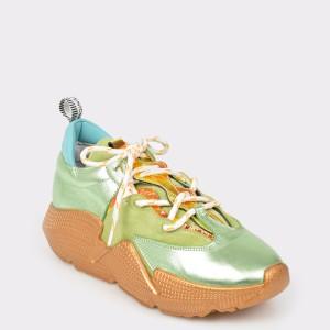 Pantofi sport FLAVIA PASSINI verzi, 1177, din piele naturala