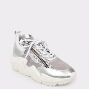 Pantofi sport FLAVIA PASSINI argintii, 1179, din piele naturala