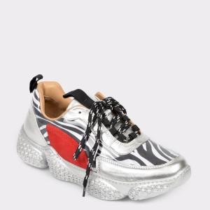 Pantofi Sport Flavia Passini Argintii, 18461, Din Material Textil
