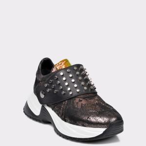 Pantofi sport FLAVIA PASSINI argintii, 3028, din piele naturala
