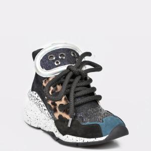 Pantofi sport FLAVIA PASSINI bleumarin, 3002, din material textil si piele intoarsa