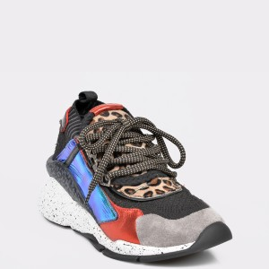 Pantofi sport EPICA negri, 3027, din piele ecologica