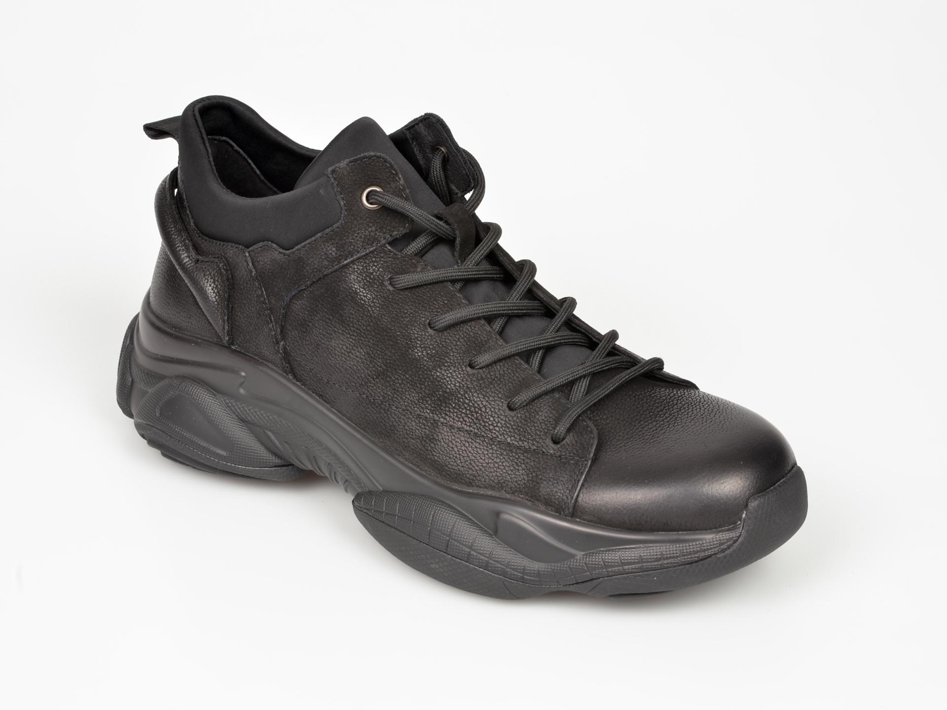 Pantofi Sport Gryxx Negri, B03a189, Din Piele Naturala